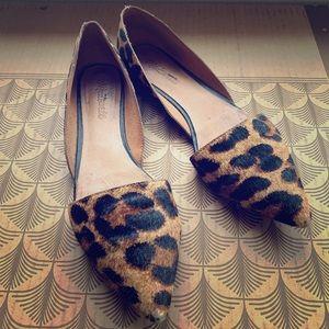 Madewell leopard-print calf-hair flats